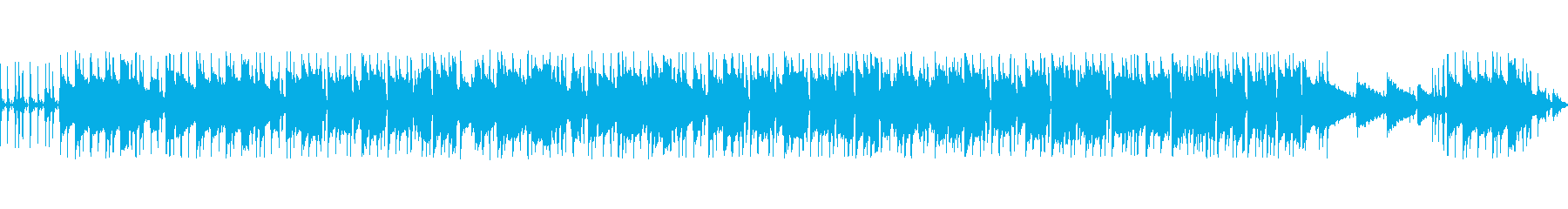 夕暮れ時をイメージしたまったりBGMの再生済みの波形