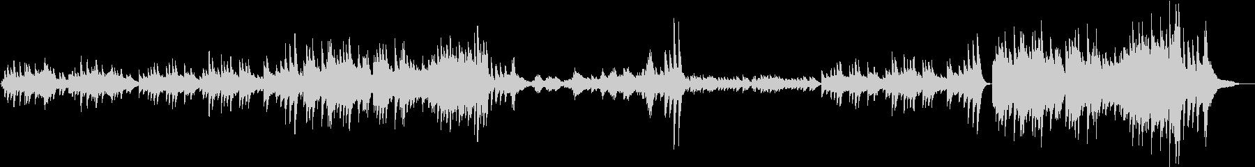 エキゾチックなピアノ曲の未再生の波形
