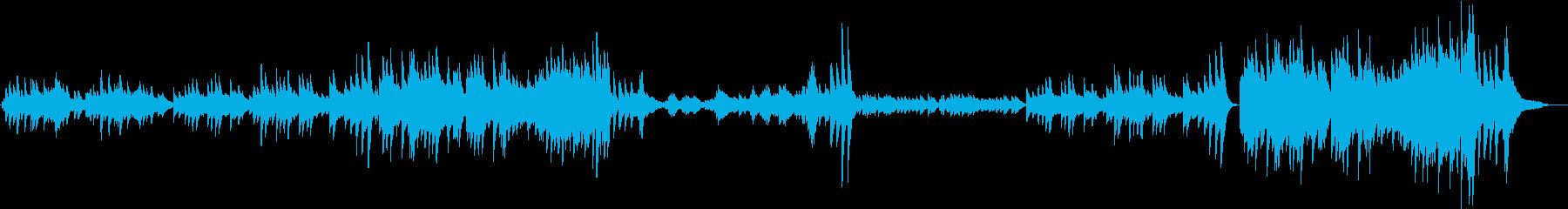 エキゾチックなピアノ曲の再生済みの波形