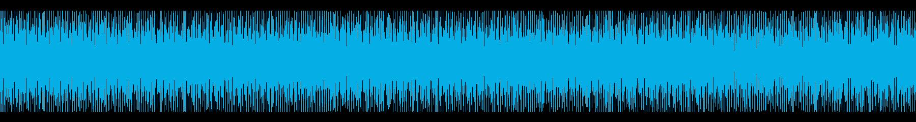 ファミコン 敵、戦闘時のBGM(ループ)の再生済みの波形