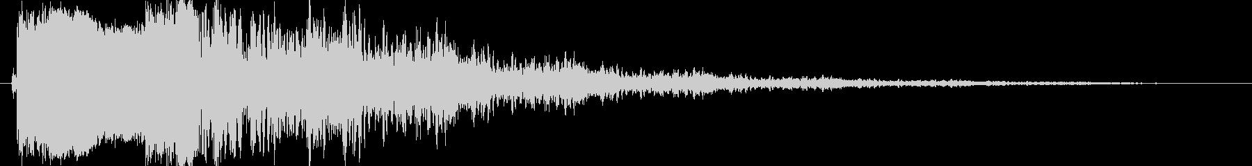 ピキーン(高い音)の未再生の波形
