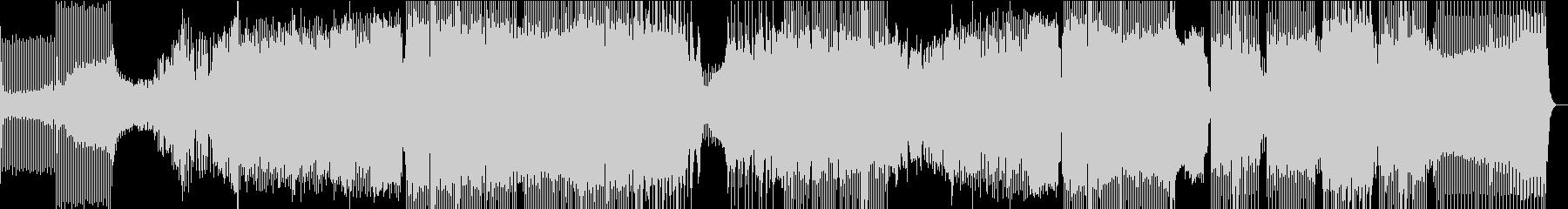 エネルギッシュなハウスBGMの未再生の波形