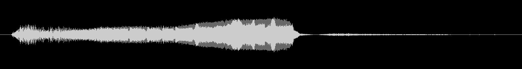 ラクーンのようなうめき声の未再生の波形