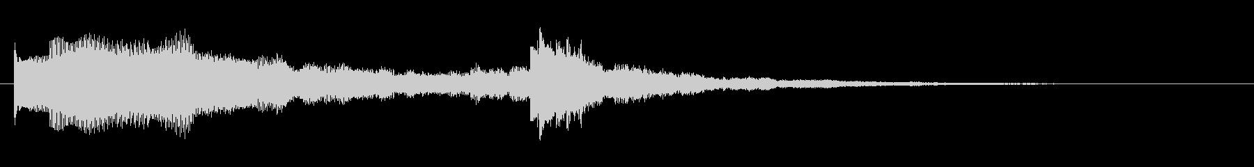 オープニングなどに使えるジングルBGMの未再生の波形