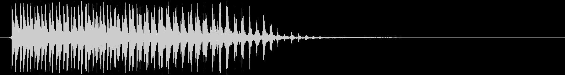 カー(ビブラスラップ、生音)の未再生の波形