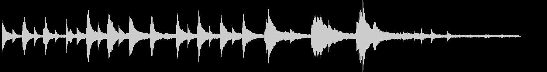 切ないシーン導入に使える短いピアノ曲の未再生の波形