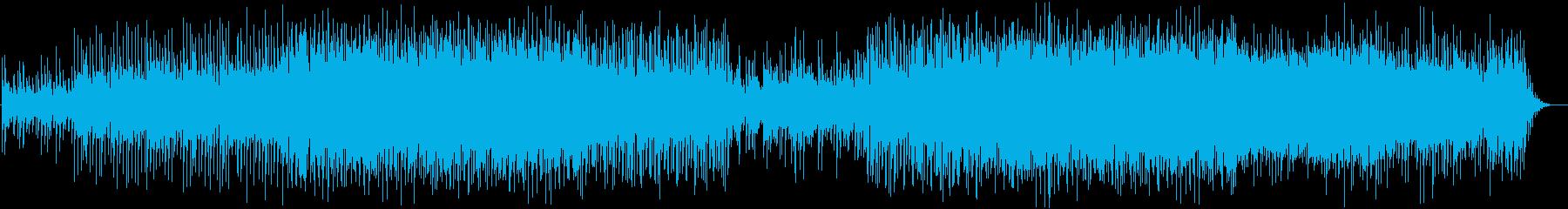 切なさのあるラブソング風のインストEDMの再生済みの波形