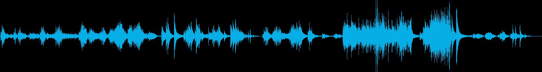 悲しいピアノバラード(切ない・儚い)の再生済みの波形