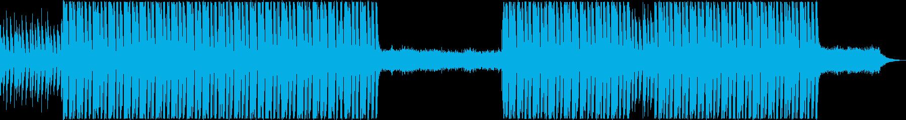 未来感のあるBGMの再生済みの波形