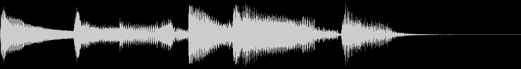 明るい アルペジオ ナイロンギターの未再生の波形