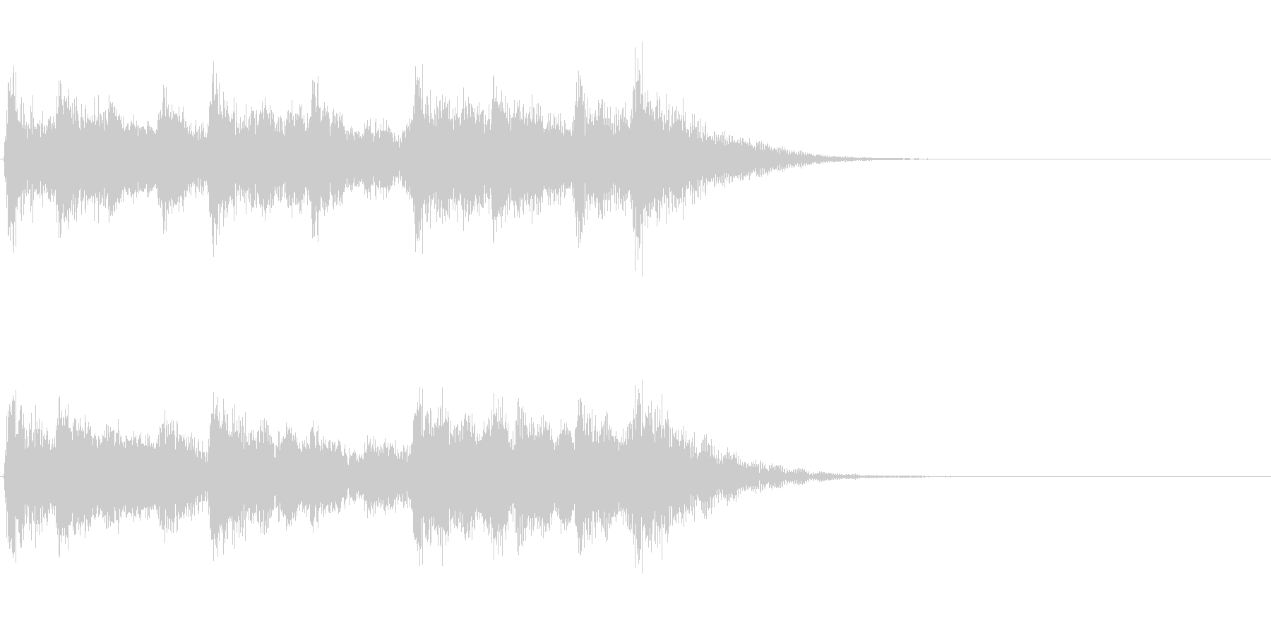和風ジングル:篠笛と太鼓のお囃子の未再生の波形