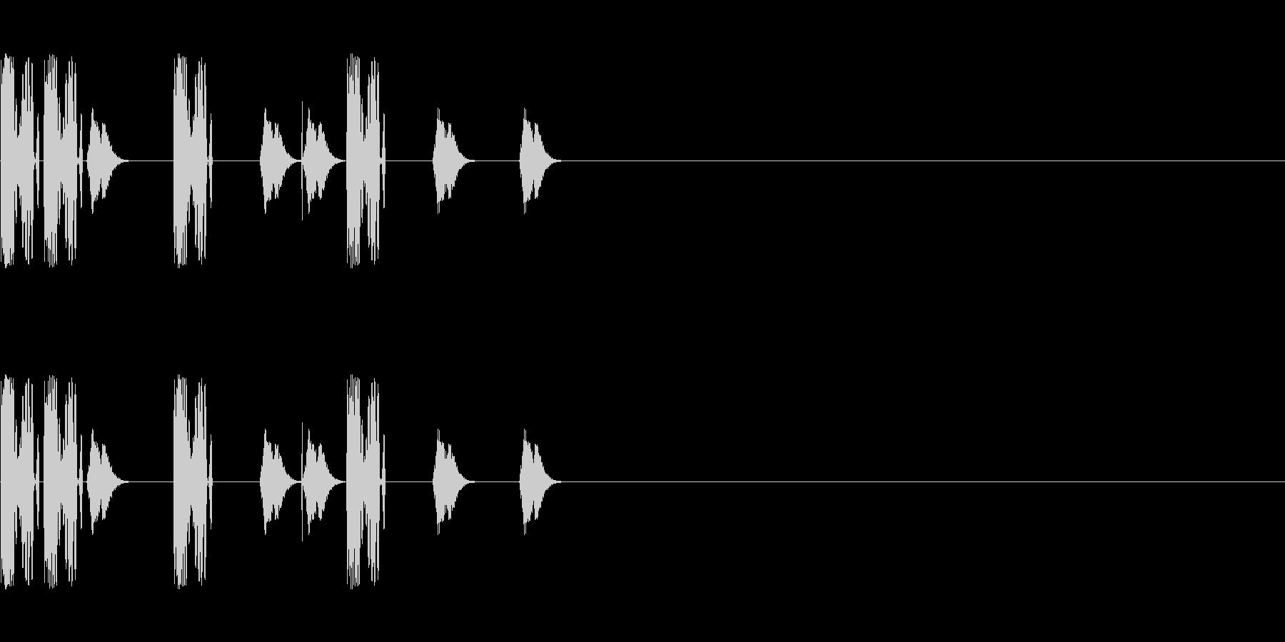 DJスクラッチ/ターンテーブル/E-20の未再生の波形