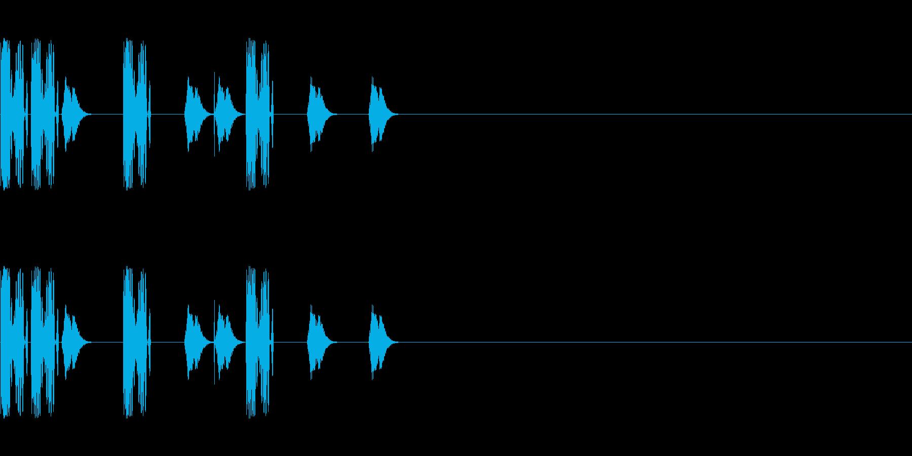 DJスクラッチ/ターンテーブル/E-20の再生済みの波形