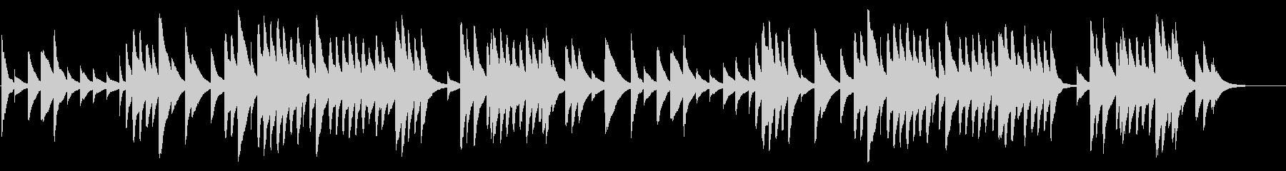 G線上のアリア 18弁オルゴールの未再生の波形