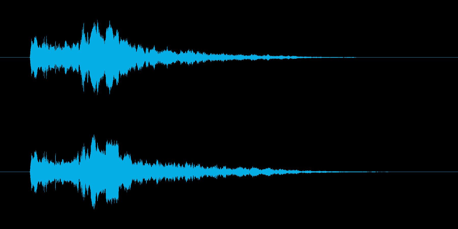 パワーダウン 使用 キュイーン ぴゅいんの再生済みの波形