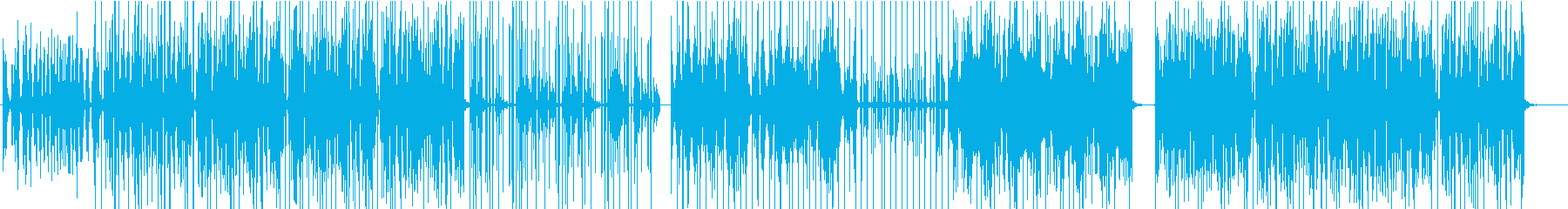 切なくもポップな旋律のエレクトロニカの再生済みの波形