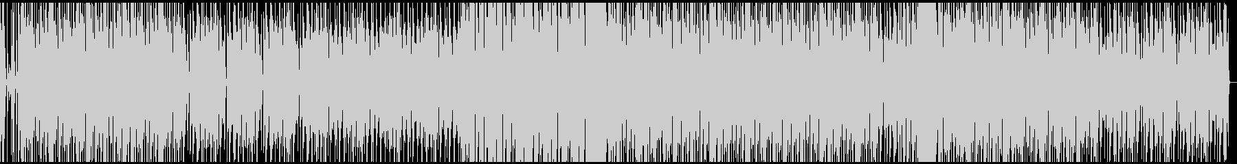 シンプルなテクノ 重圧があるリズムの未再生の波形