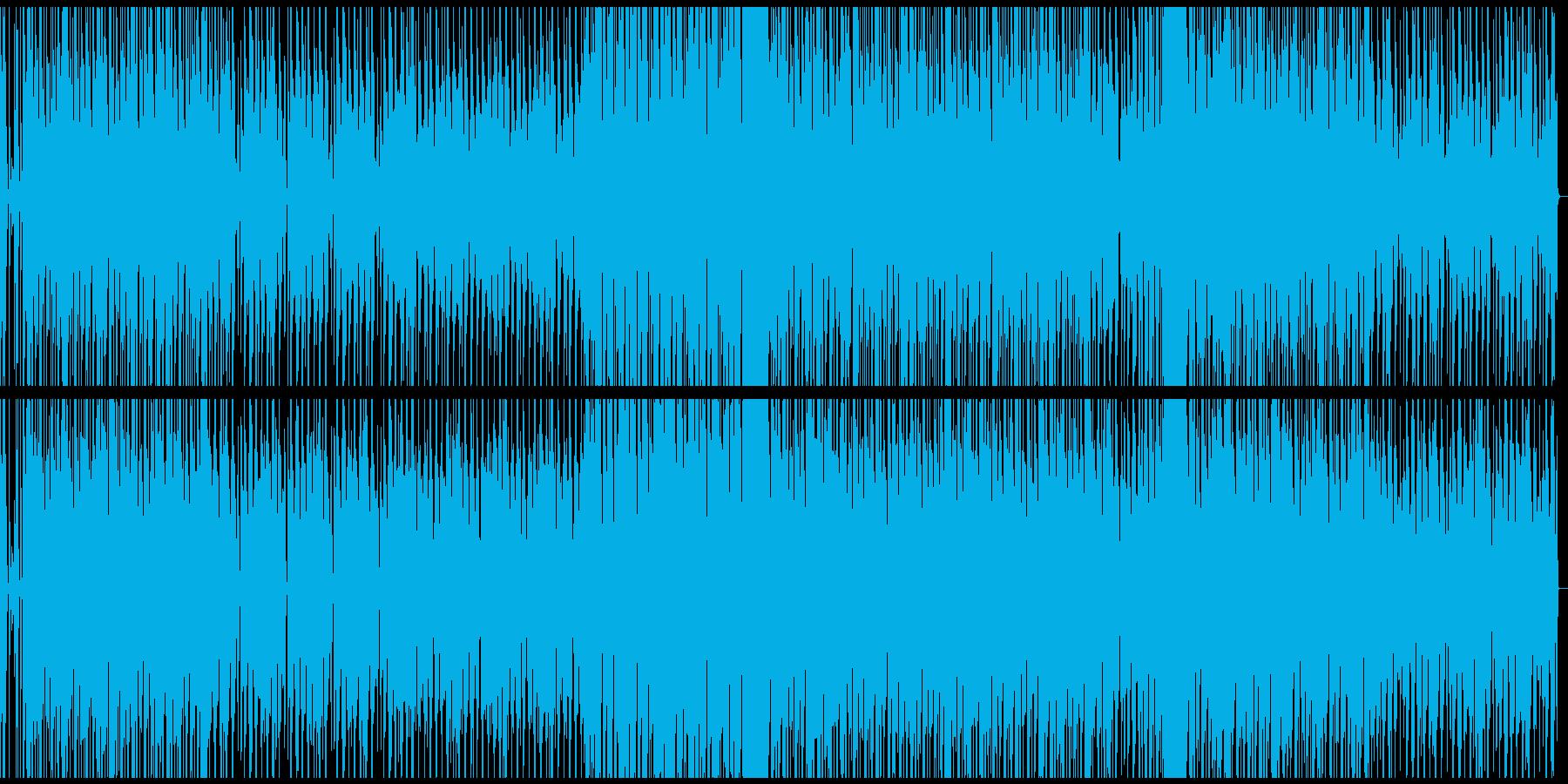 シンプルなテクノ 重圧があるリズムの再生済みの波形