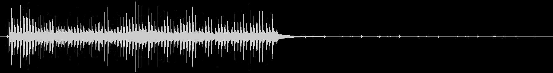 タイマーベル:短いミュートリングア...の未再生の波形
