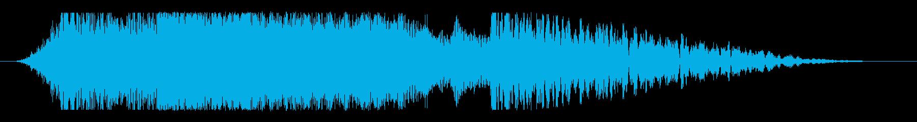 強烈なスピン!インパクトある映像ロゴ向けの再生済みの波形