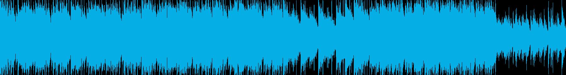 キャッチーピアノ、バイオリンメロの再生済みの波形
