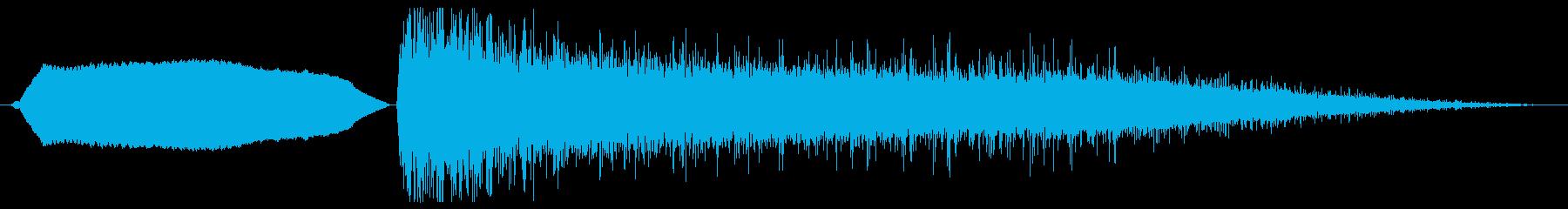 漫画爆弾爆発-空から落ちてくる爆弾の再生済みの波形