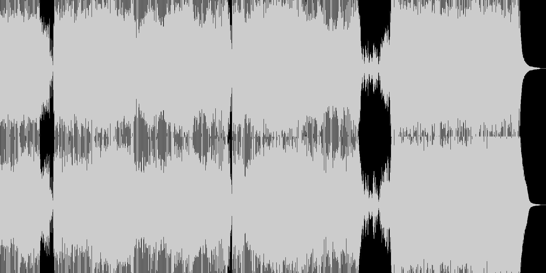 続く轍と懐かしき扉の未再生の波形