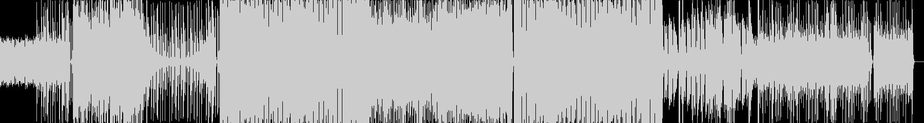 疾走感のあるドラムに透き通る電子音BGMの未再生の波形