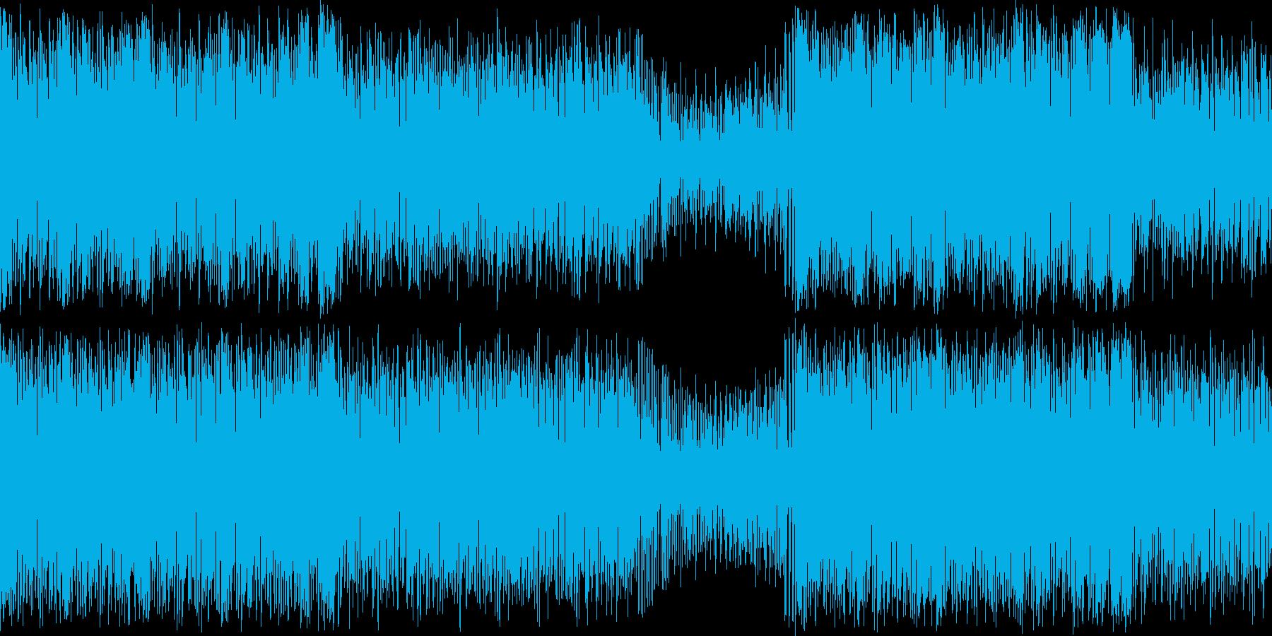 怪しくも間の抜けた縦笛ラテンジャズの再生済みの波形