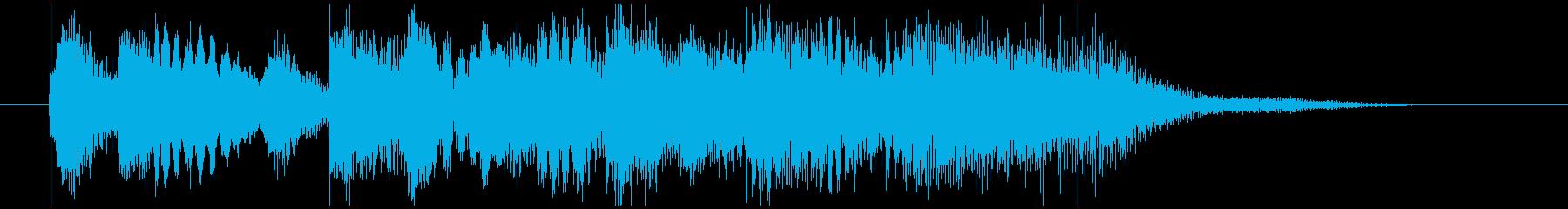 短調バロック風ジングル(オーケストラ)の再生済みの波形