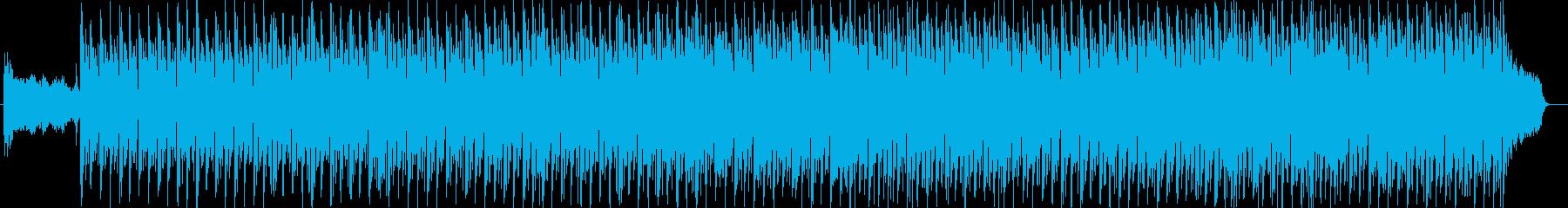 リズミカルなシンセサイザーの和風テクノの再生済みの波形
