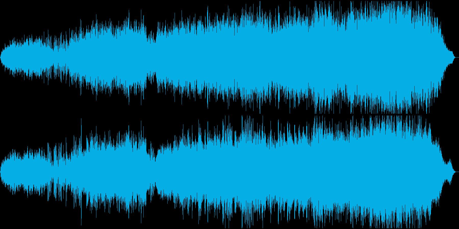 中国の伝統的な哀愁のある楽曲のメドレーの再生済みの波形
