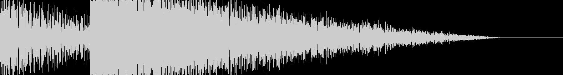 雷 落雷の音 ゴロゴロ ガシャーンの未再生の波形