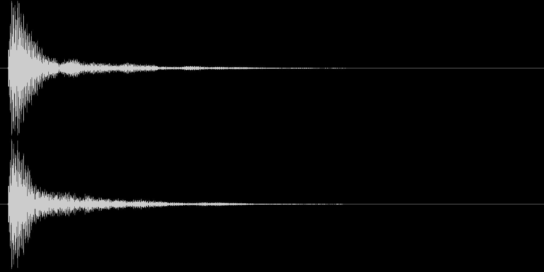マリンバのクリック音の未再生の波形
