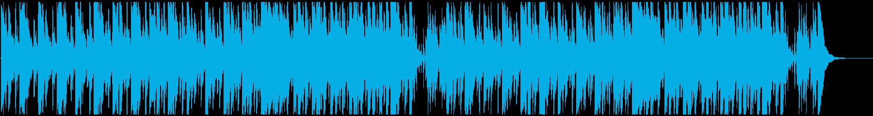 何かが始まりそうな、コミカルな曲の再生済みの波形