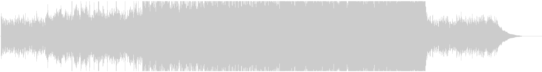 切ない雰囲気から前向きになるバラードの未再生の波形