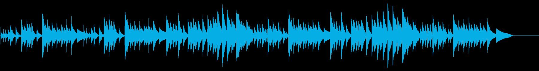 キラキラ星変奏曲(Var Ⅷ)オルゴールの再生済みの波形