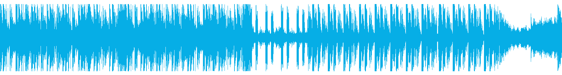 工場や発電所をイメージしたゲームBGMの再生済みの波形