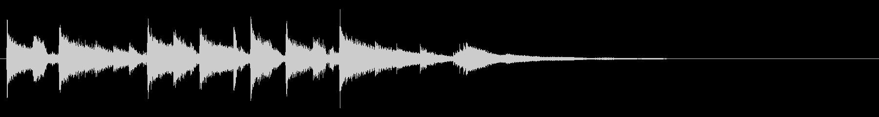 ジングル - 切ないギターストロークの未再生の波形