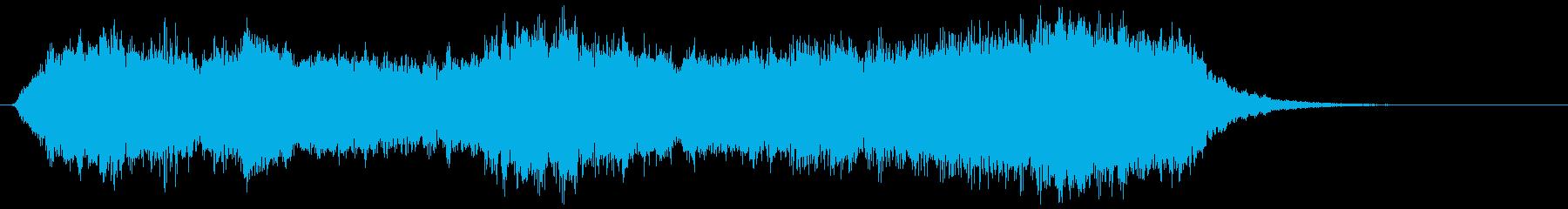 怪しげなチェロの曲の再生済みの波形