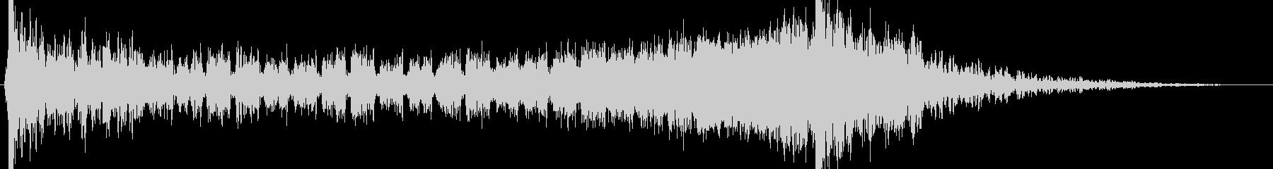 壮大でヒロイックなエピックサウンドロゴの未再生の波形