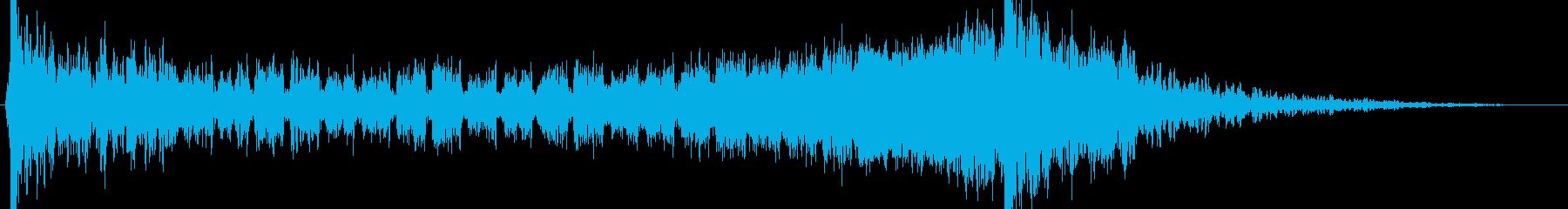 壮大でヒロイックなエピックサウンドロゴの再生済みの波形