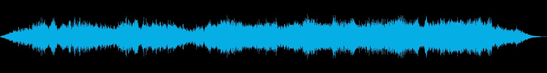 アンビエント、ヒーリング、雨音と深呼吸の再生済みの波形