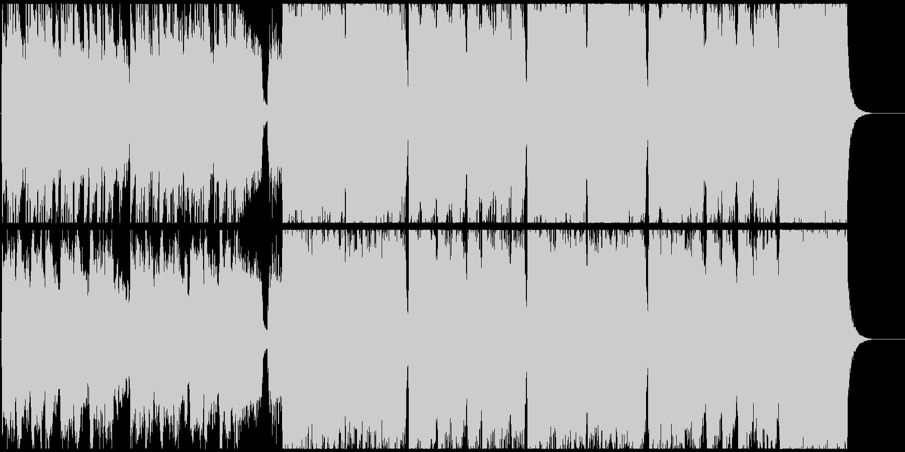優しくほのぼのしたBGMの未再生の波形