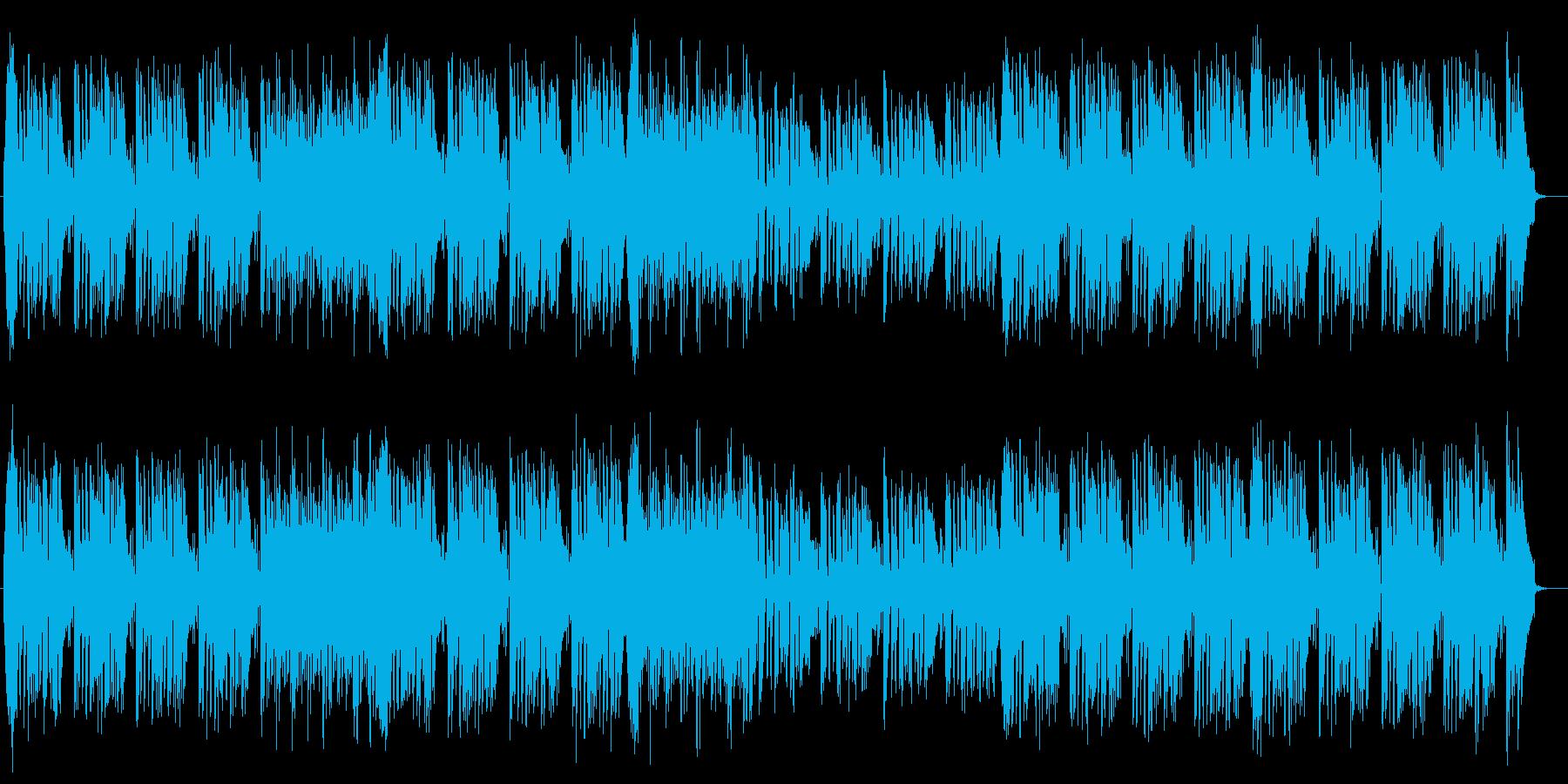 ファンシーで可愛い印象のポップスの再生済みの波形