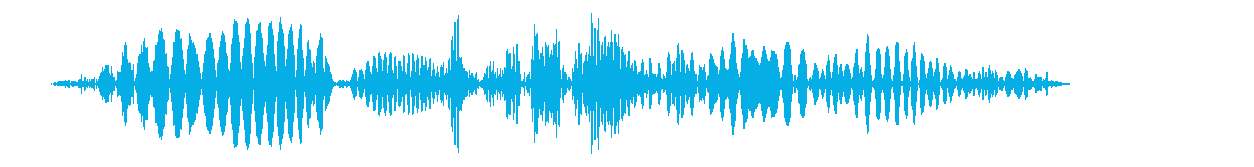 ボムッという軽い風切り音の再生済みの波形