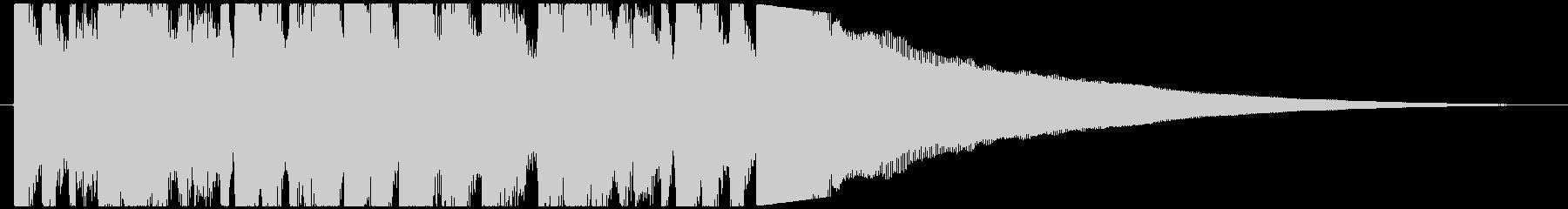 VP・CM 癒やし系ピアノのサウンドロゴの未再生の波形