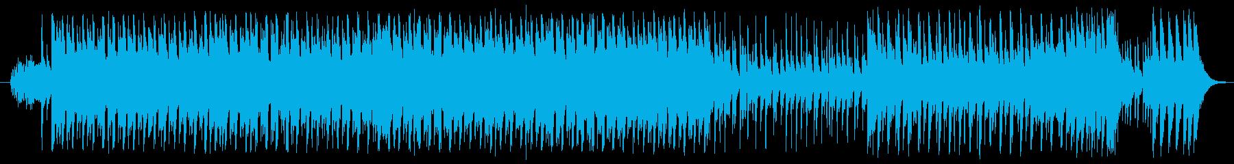 和楽器+エレクトロの和風ダンス曲の再生済みの波形