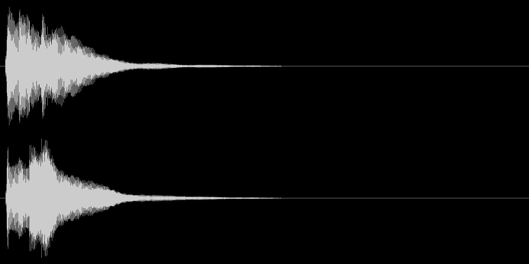 ハープ系 決定音10(大)の未再生の波形