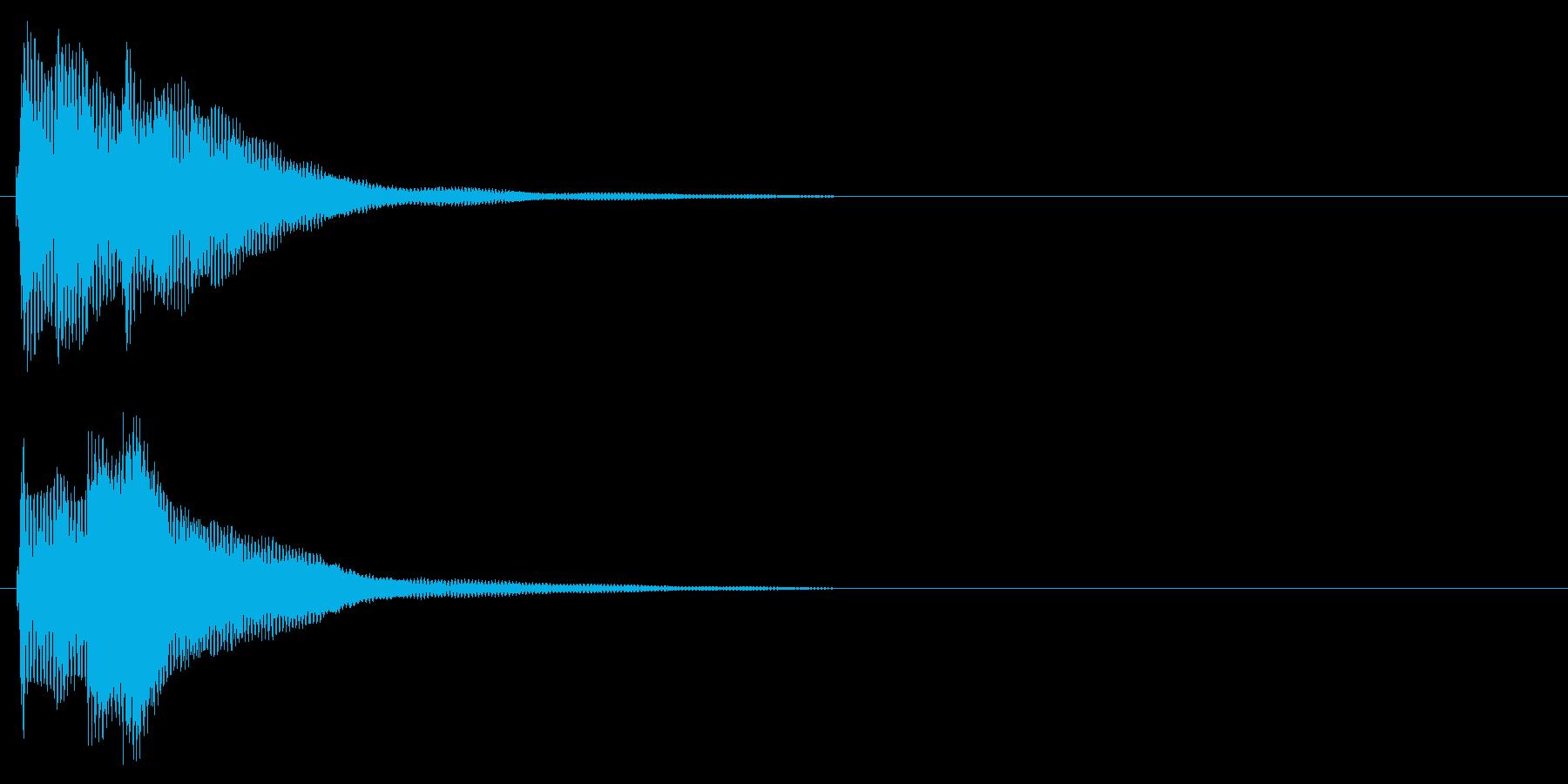 ハープ系 決定音10(大)の再生済みの波形